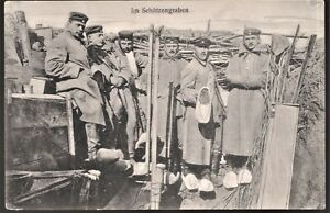 TRENCHES-GERMAN-EMPIRE-1918-WOOD-SHOES-UNCOMMON-SCENE-WW1-ANTIQUE-POSTCARD
