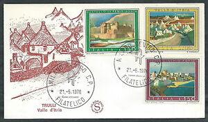 DéVoué 1976 Italia Fdc Filagrano Turistica No Timbro Di Arrivo - Edg24-2 La RéPutation D'Abord