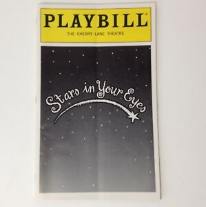 Playbill-Stars-In-Your-Eyes-1999-Cherry-Lane-Theatre-Theater-Book