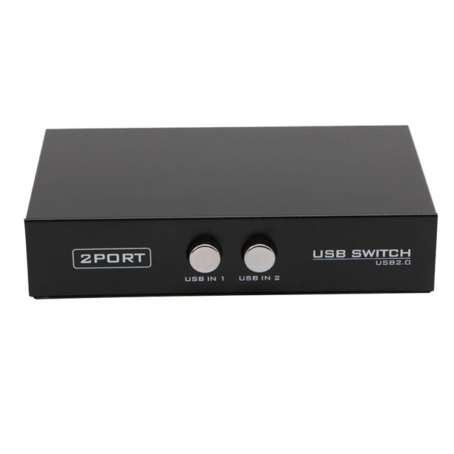 2 Ports USB 2.0 Device Sharing Switch Switcher Adapter Box Fr PC Scanner Printer