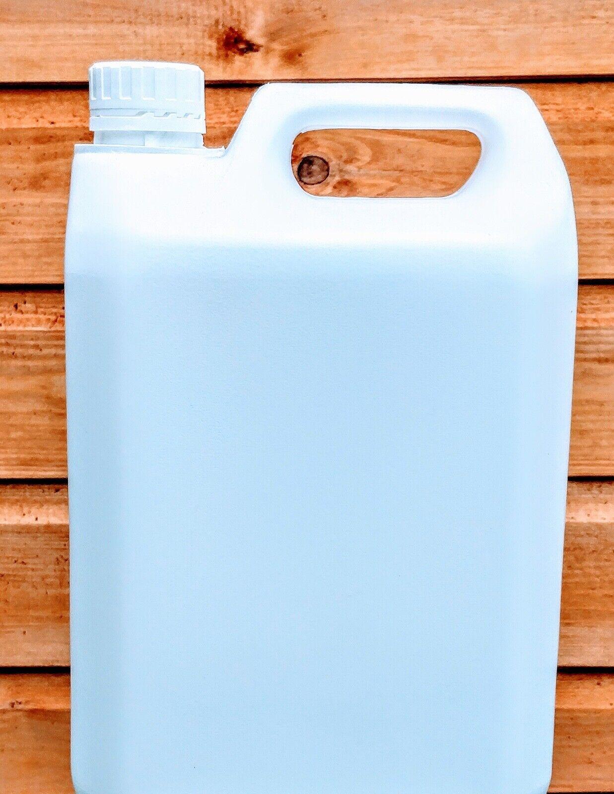 Empty plastic bottles 4 x 5L white Jerrycans with T/E closures gallon