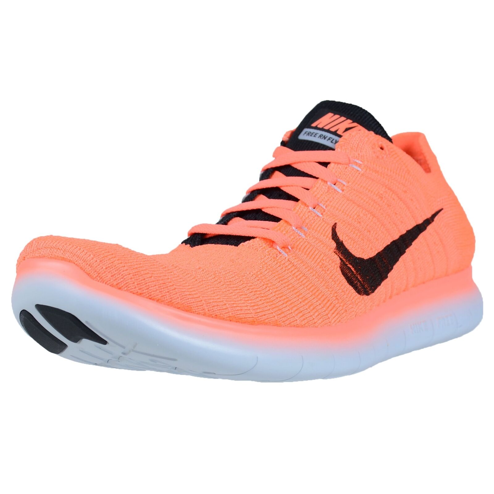 The most popular shoes for men and women NIKE FREE RN FLYKNIT BRIGHT MANGO BLACK WOLF GREY RUNNING SHOE 10.5  831069 801
