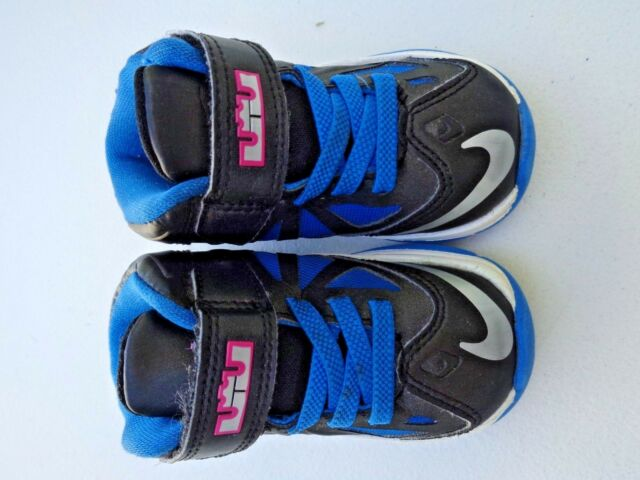 NIKE Baby Girls Shoes Sneakers Size 5C 5 Black Blue Pink ...