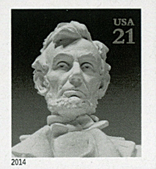 2014 21c Abraham Lincoln, Sculptor, Imperforate Scott 4