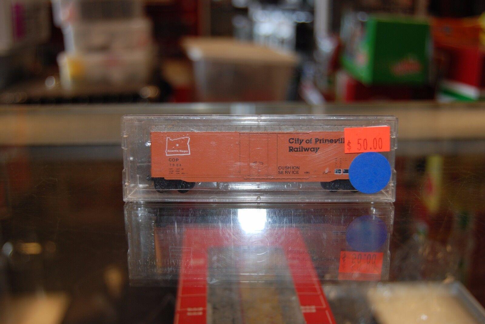 N Custom Painted Box Car * City Of Prineville  7004 * Nice with box