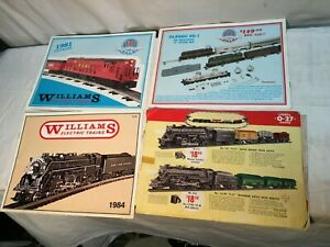 WILLIAMS-Electric-Trains-Catalog-1980s-Set-of-3-Plus-One-Lionel-Catalog