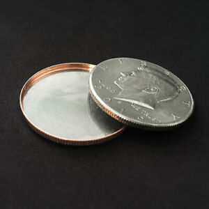 Magnetic-Expanded-Shell-Half-Dollar-Coin-Magic-Tricks-Illusions-Close-up-Magic