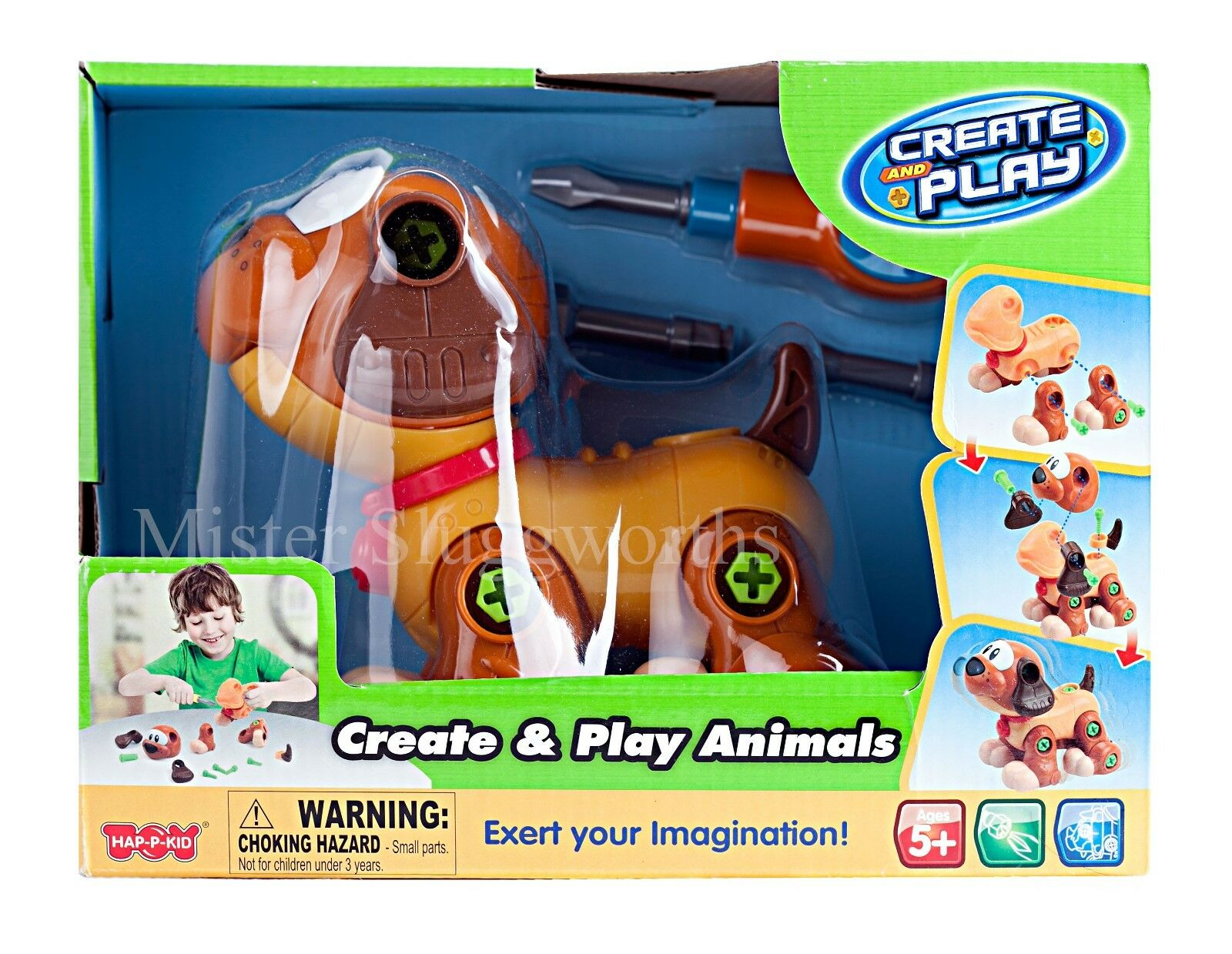 NEW Happy Kid Toy Group Create & Play Animals Toy Dog Learning Develop Skill MIB