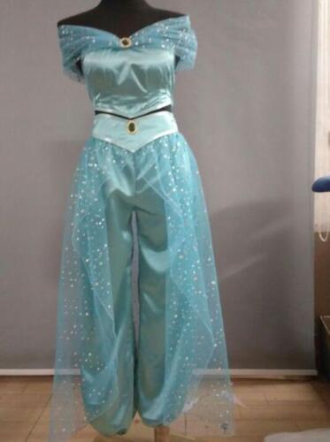 Adult Aladdin Jasmine Princess Cosplay Halloween Costume Party Dress Pants Zsell