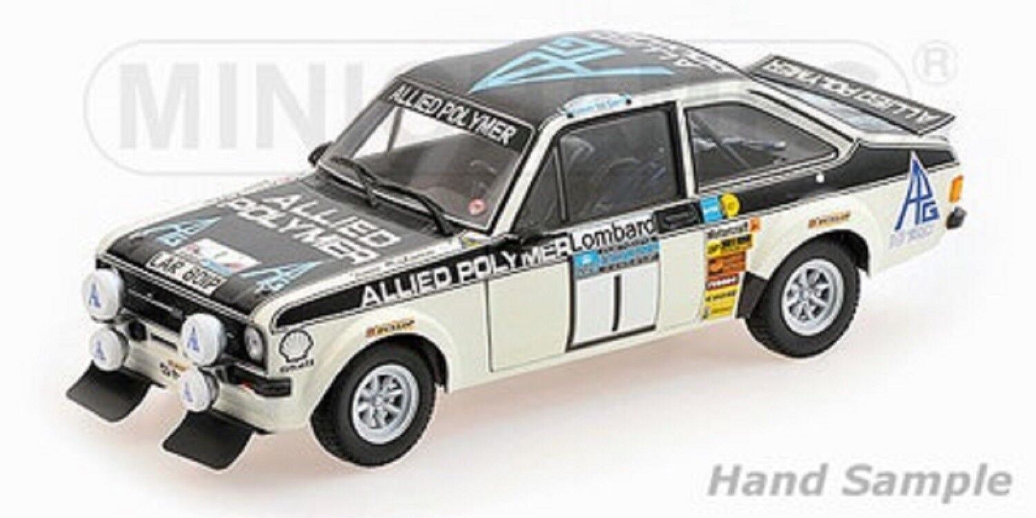 1 18 FORD ESCORT II RS 1800 Rallye RAC 1975 MAKINEN MINICHAMPS 100758401 New