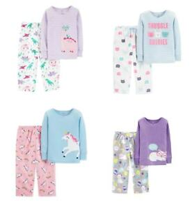 438b56c96fde NWT Carter s 2 Pcs Toddler Girl Top   Microfleece Bottoms Pajama Set ...