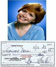 BONNIE FRANKLIN   AMERICAN  ACTRESS   HAND SIGNED CHEQUE  / CHECK  1983   RARE