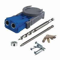 Kreg Drill Jig Pocket Hole Screws Bit System Kit Power Hand Woodworking Tool