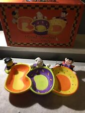 Halloween Party Table Decor Ceramic Boo  Candy Serving Dish