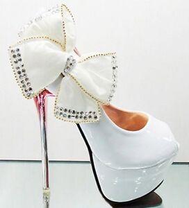 Royal-Glitter-Bows-Princess-Wedding-shoes-Stilettos-Open-Toe-High-Heels