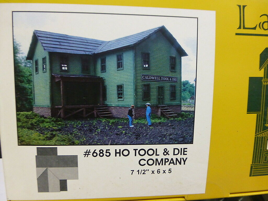 Branchline LaserArt Structures HO  685 Caldwell struessito & Die Co. 7 12 x 6 x 5