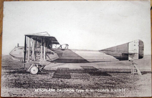 1930 French Aviation Postcard 'Aeroplane Caudron RXI, Corps d'Armee'
