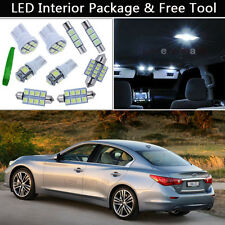 13PCS White LED Interior Lights Package kit Fit 07-2014 Infiniti G35/G37/Q50 J1