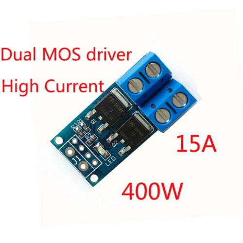 High Power 15A 400W MOS Trigger Switch Drive Module PWM Regulator DC 5V-36V CG