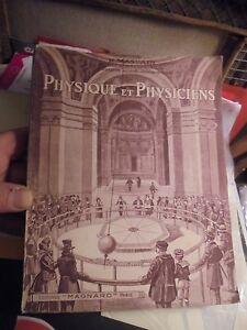 Physique et Physiciens R Massain Chez Magnard Paris 1939