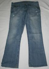 Women's RARE Abercrombie & Fitch Ezra Fitch Flare Vintage Blue Jeans Size 28