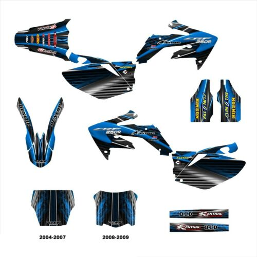 CRF 250 250R graphics Honda 2004 2005 2006 2007 2008 2009 deco kit NO3333 Blue