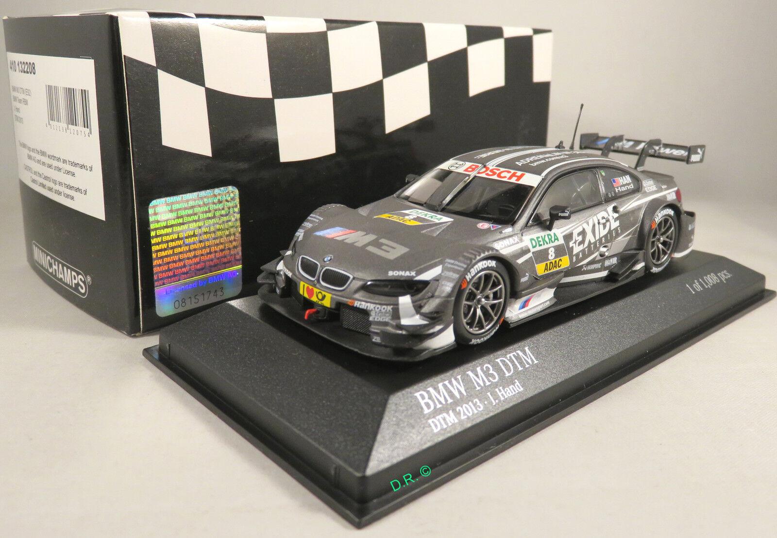 BMW M3 DTM  8 Joey HAND team RBM Exide Batteries DTM 2013 MINICHAMPS 1 43
