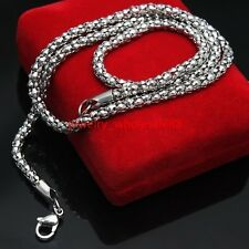 New Hot Stainless Steel popcorn Link-chain Necklace Women Men Fashion 3.2mm 24''