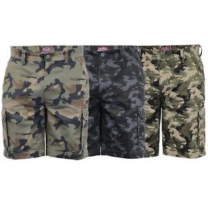 Para-Hombre-Pantalones-Cortos-Estilo-Cargo-De-Camuflaje-Combate-Largo-Hasta-La-Rodilla-Militar