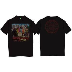 The-Beatles-Sgt-Pepper-Back-Printing-Official-Merchandise-T-Shirt-M-L-XL-Neu