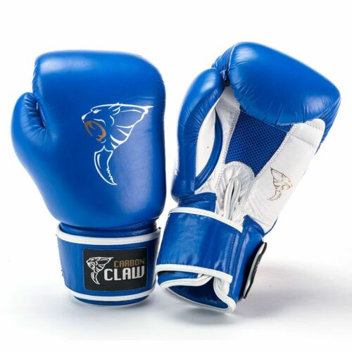 Carbon Claw AMT CX-7 Blue Leather Boxing MMA Fighting Sports Sparring Gloves