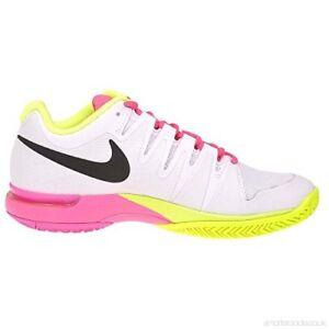 New Women S Nike Vapor Tour 9 5 White Black Volt Pink Tennis Shoes