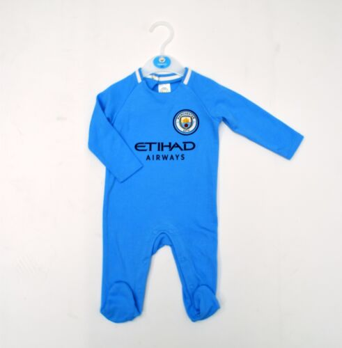 Manchester City FC Official Football Club Kit babywear gift set Sleepsuit MC700