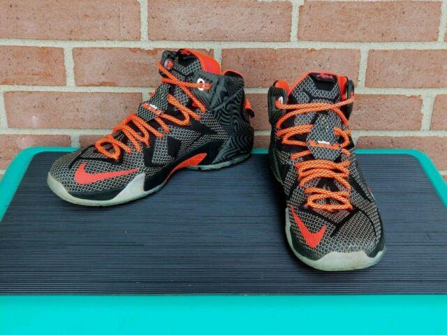 "the latest 56d47 eacac Nike LeBron James XII 12 ""Court Vision"" Black/White/Crimson 684593-016 Size  9"
