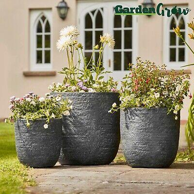 """NEW 11/"""" BELL QUILT PLANTER POT INDOOR OUTDOOR GARDEN PATIO FLOWER PLANT POTS NEW"""