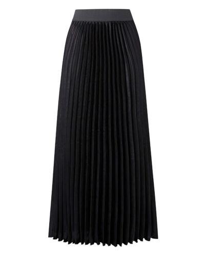 Ex athology d/'une jupe plissée bleu marine noir taille élastique TAILLE 10-32