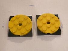 Lego 3 tourniquets jaunes set 4208 7939 7633 4430 10225   / 3 yellow turntable