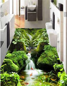 gras rock creek 3d fu boden wandgem lde foto bodenbelag tapete zuhause drucken ebay. Black Bedroom Furniture Sets. Home Design Ideas