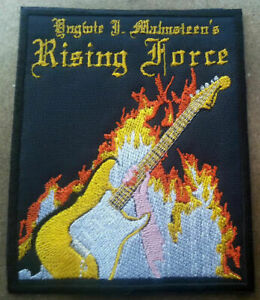 Yngwie Malmsteen Rising Force embroidered patch Silver Mountain Blind Guardian