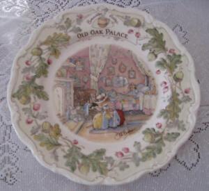 Royal-Doulton-Brambly-Hedge-034-Old-Oak-Palace-034-8-inch-plate