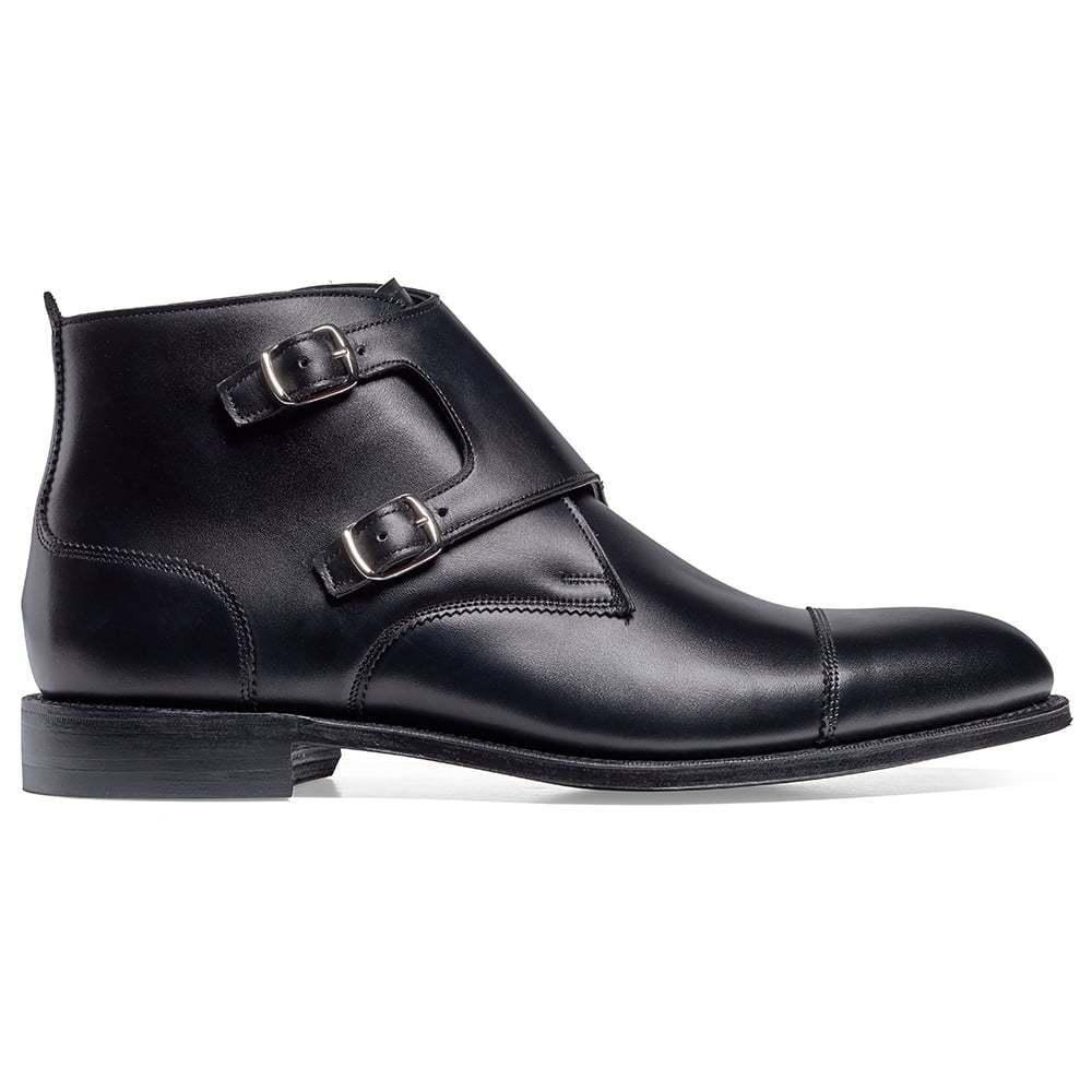 Men Bespoke Handmade Leather Formal Ankle Double Monk Oxford Toe Cap stivali