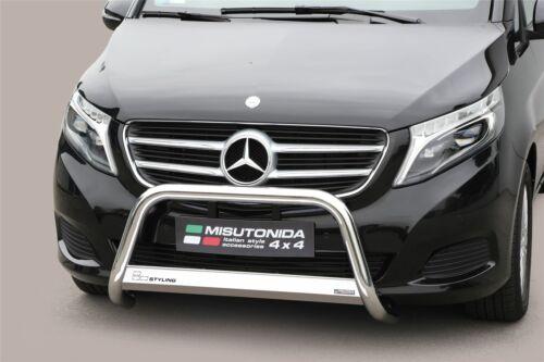 Mercedes V Class Bull Bar Nudge A-Bar 2014 63mm Steel Chrome EC APPROVED