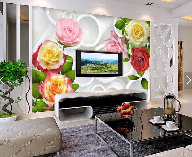 3D Farbe Flowers 559 Wallpaper Murals Wall Print Wallpaper Mural AJ WALL AU Kyra