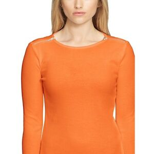 L New Ralph Pl Lauren Orange shoulder 50 Petite Cotton 59 Tee Zip r0rzqWAH