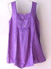 NEW~Lavender Lilac Crochet Lace Peasant Blouse Shirt Tank Boho Top~4/6/S/Small