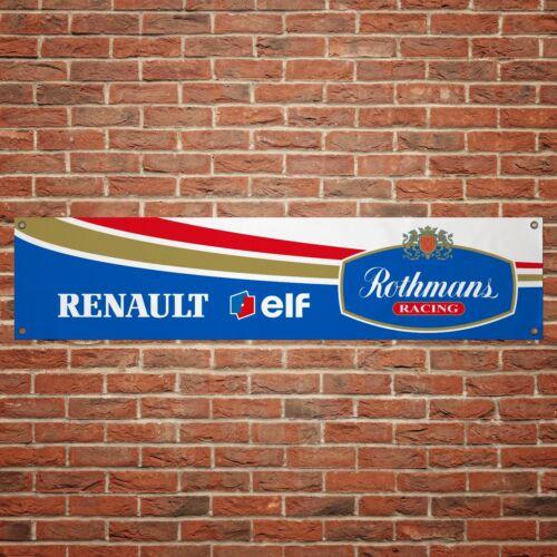 Rothmans Renault Williams Banner Garage Workshop PVC F1 Sign Track Display