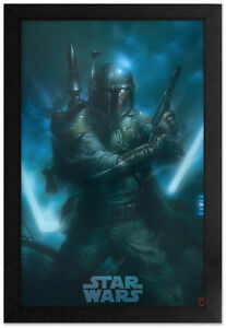 Star Wars Boba Fett Bounty Hunter 13x19 Framed