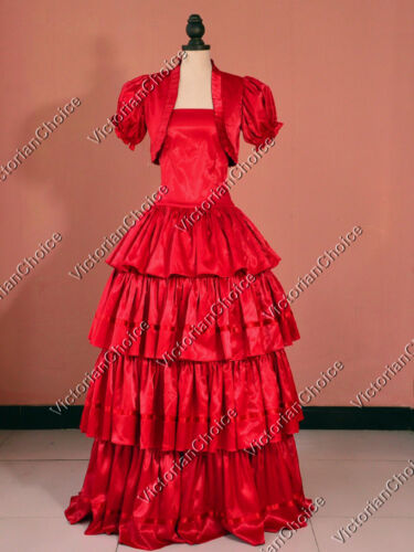 Victorian Costume Dresses & Skirts for Sale    Southern Belle Victorian Gown Dress Women Christmas Dickens Caroler Costume 193 $97.00 AT vintagedancer.com