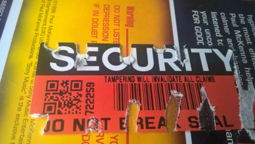 SECURITY Seals RED COLOUR stickers labels tamper evident protection 70mm x 30mm
