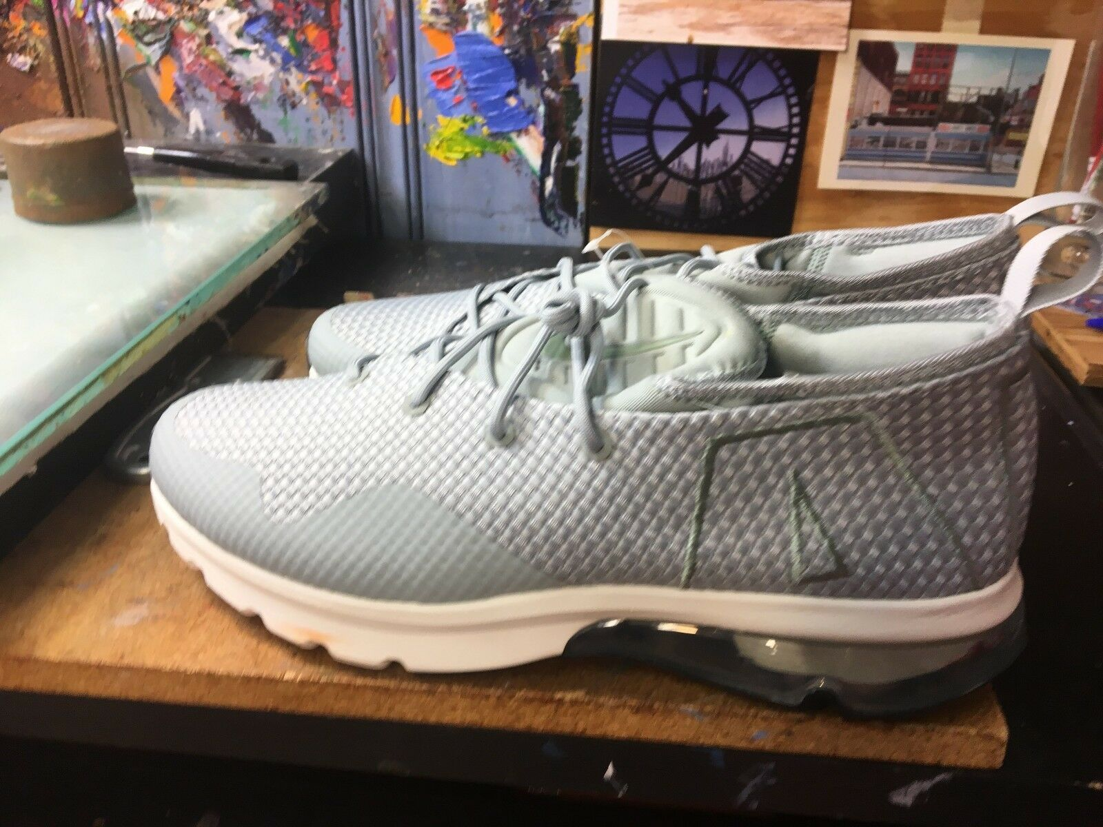 Nike Air Max Flair Size 50 Woven Cool Grey Size Flair US 10 Men's AO1029 002 5f5dc1